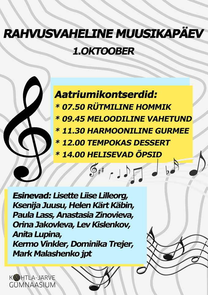 Rahvusvaheline muusikapäev Kohtla-Järve Gümnaasiumis