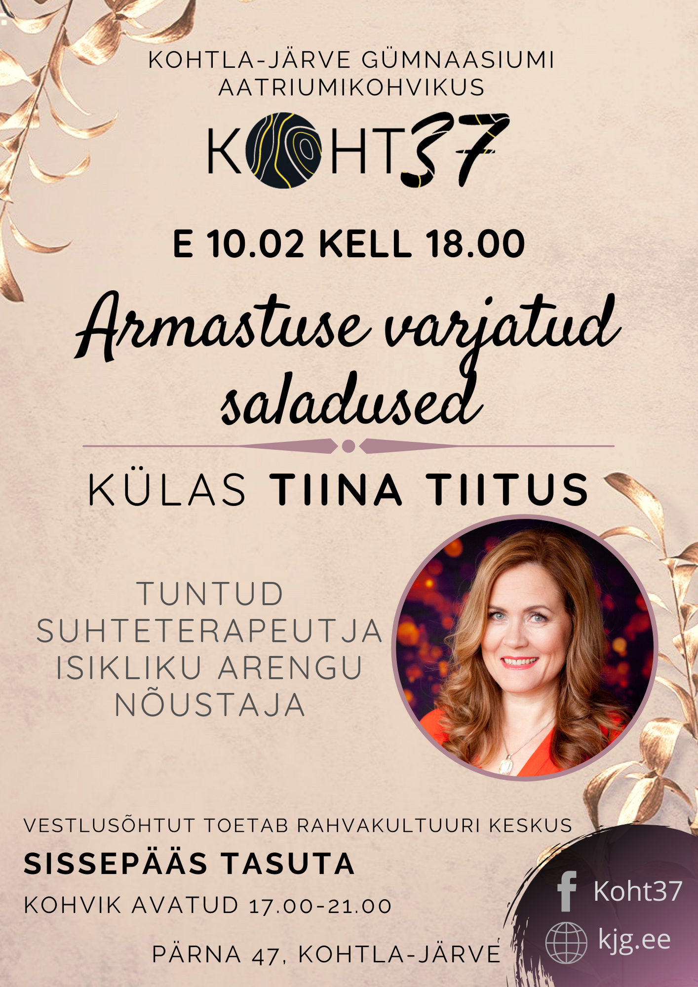 """KOHT37: Tiina Tiitus """"Armastuse varjatud saladused"""""""