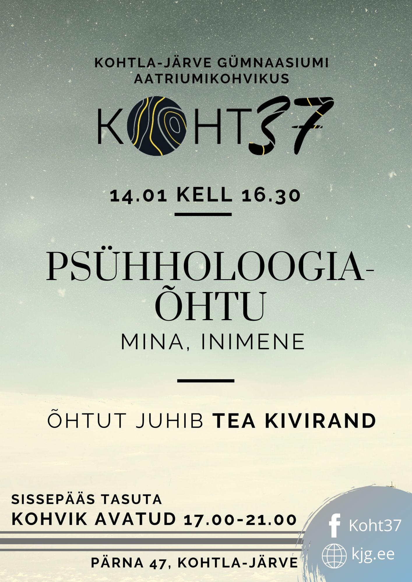 You are currently viewing KOHT37: Psühholoogia õhtu: mina, inimene
