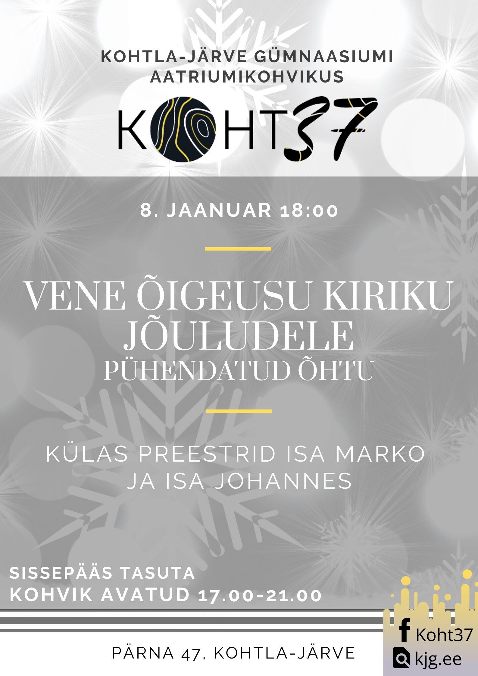 KOHT37: Vene õigeusu kiriku jõuludele pühendatud õhtu